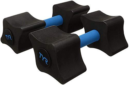 TYR Aquatic Resistance Dumbbell, Black/Blue