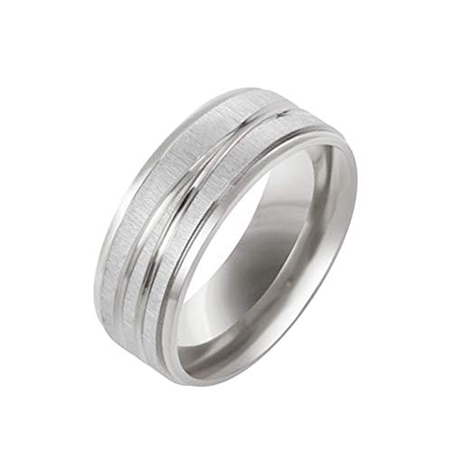 Festnight Medical Weight Loss Ring Simple Stainless Steel Magnetic Therapy Fashion Magnetic Healthcare Finger Ring