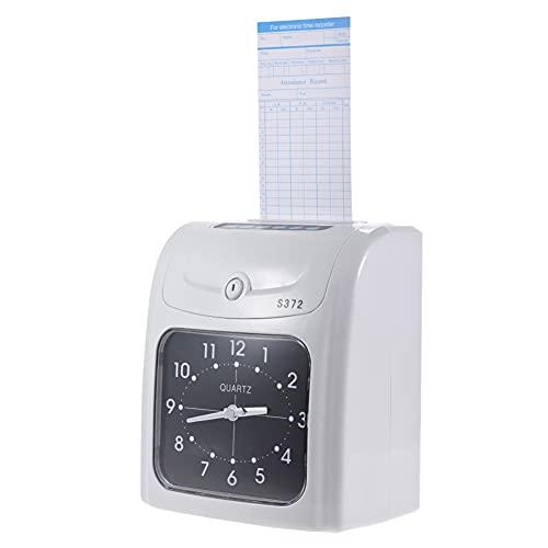 ASYCAN Empleado Electrónico Starter Time Clock Small Business Punch Pak, Registrador de Tiempo de Asistencia de La Máquina de Tarjetas para Office Factory Warehouse