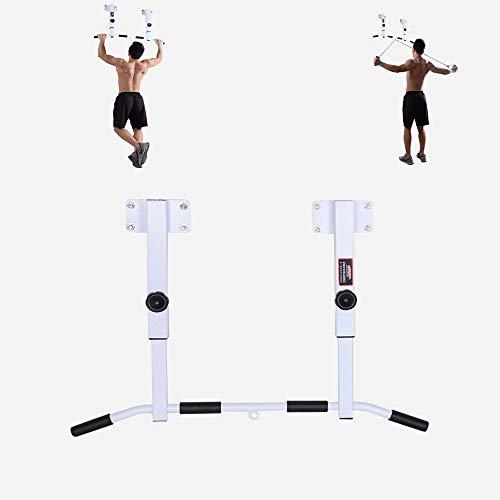 FWQAZ Klimmzugstange Deckenmontage, Boxsack Extrem Stabil unzählige Pull Up Übungen inkl Deckenhalterung 8 Schwerlastdübel zur Montage