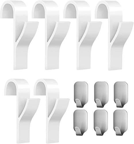 EasyULT 6 piezas Gancho para Radiador Toallero Colgadores
