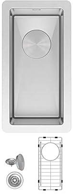 Zuhne Modena Undermount Single Bowl 16 Gauge Stainless Steel Kitchen Sink