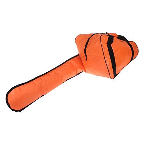 JOYKK 20' Bolsa de Transporte para Motosierra Bolsa de Tela Oxford Almacenamiento Protector de Mochila For 12'/ 14' / 16'- Naranja y Negro