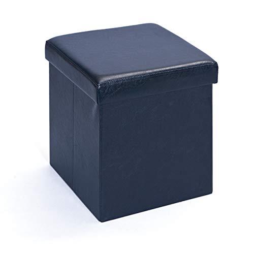 Inter Link Faltbox, Klein, Polyurethan, MDF, Schwarz, 38 x 38 x 38 cm, 1 Einheiten