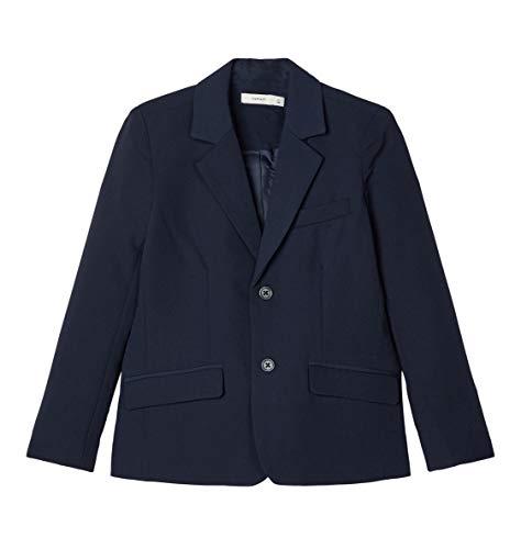 NAME IT Jungen Anzug-Jacke Blazer Sakko Festmode NKMRALF, Größe:164, Farbe:Dark Sapphire