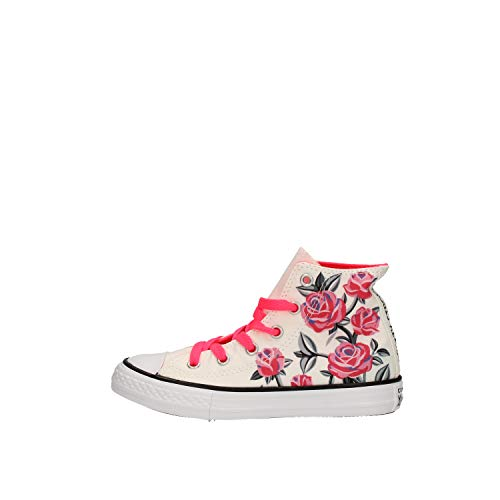 Converse Chuck Taylor All Star Hi 663623C Kinder-Sneaker White/Racer Pink Gr. 29 (US 12)
