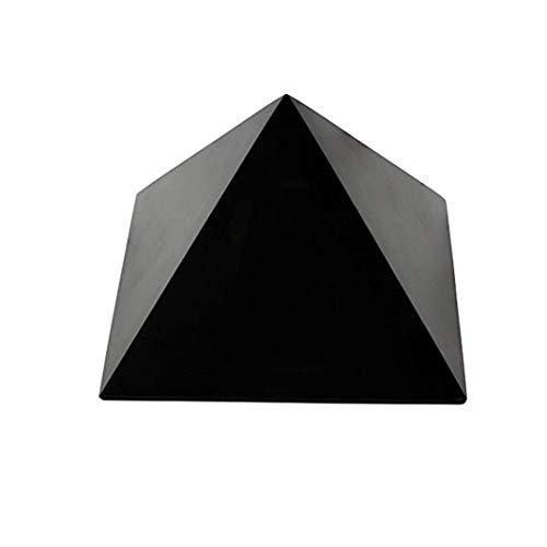 Schungit Pyramide 10x10cm: höchste Qualität russischer Schungitsteine-EMF Strahlungsschutz, Chakra Ausgleich, handgemacht, Reinigungs-Energetisierungsstein. Mit Zertifikat der Mine in Russland!