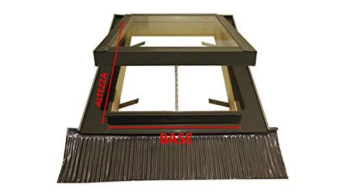 Finestra da tetto/Lucernario Elettrico per apertura a distanza con motore 220 volt. Finestra ideale dove non è possibile l'apertura manualmente. (45 x 55 Base x Altezza)