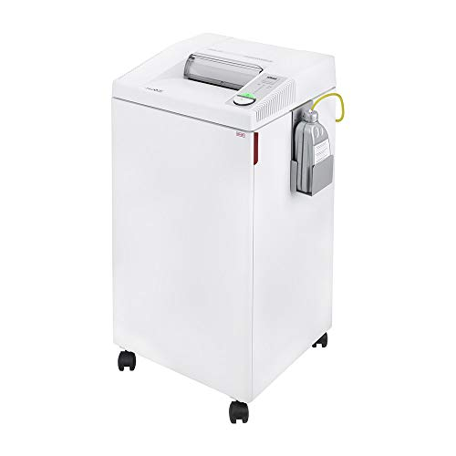 ideal. 2604 Cross-Cut Centralized Office Shredder with Automatic Oiler, Continuous Operation, 23 to 25 Sheet Feed Capacity, 26 gal Bin, Shred Staples/Paper Clips/Credit Cards/CDs/DVDs, P-4 Security