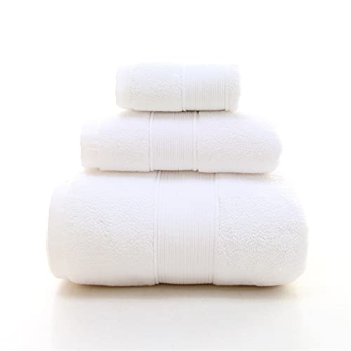 Toallas de baño de algodón de lujo Toallas Baño blanco 1 LARGA Toallas de baño, 1 toallas de mano, 1 toallitas de toallas altamente absorbentes para la playa ( Color : Color1 , Size : 3 towels set )