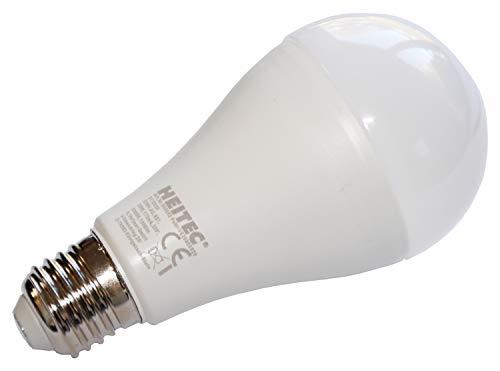 Heitronic - Bombilla LED (plástico, 20 W, luz blanca cálida)