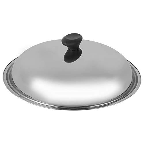 Hemoton Edelstahldeckel Universaldeckel Anti Hot Topfdeckel Verdicken Pfannendeckel mit Dampfloch für Kochtopf Auflauf Töpfe Pfannen Küche Zubehör Silber 36CM