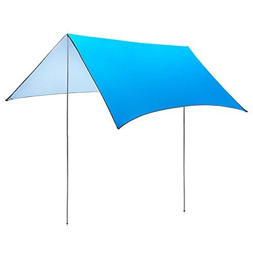Parasol - Toldo portátil para tienda de campaña al aire libre, 3 m x 3 m, resistente al agua y a los rayos UV, para camping, cenador, viajes, playa
