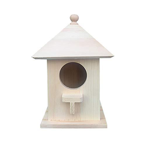 FiedFikt Nido per nidificazione in legno, 2 pezzi, casetta per uccelli da appendere, casetta per uccelli, in legno, per giardino, per casa, giardino, casa, casa, giardino, habitat