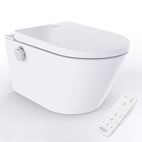 MEWATEC Marken Dusch-WC Komplettanlage EasyUp Eco wandhängend, integriertes Bidet, Komplettmodell, Preis-Leistungs-Sieger