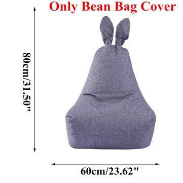 ExcLent Kaninchen-Form-Sitzsack-Stuhl-Sitzsofa-Abdeckung Für Erwachsen-Kinder, Ohne Hauptraum Zu Füllen - S