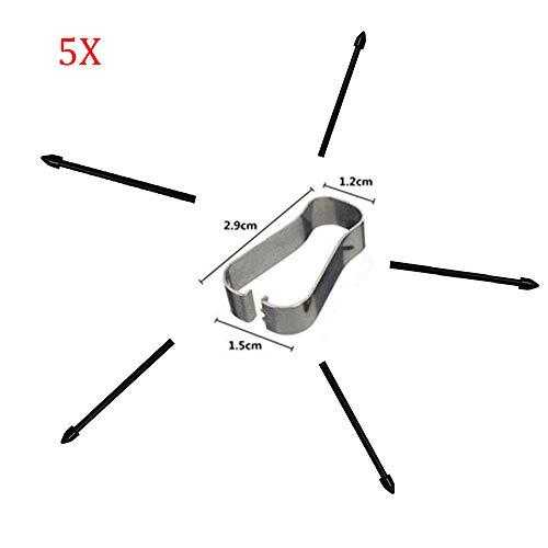 Snailcanfly 5 Puntas de Repuesto Piezas para Samsung Galaxy Note10 N970 5G N971 /Note10+ Note 10 Pro N975 5G N976 All Versions/Tab S6 SM-T860 T865 Puntas de lápiz Touch Stylus S Negro