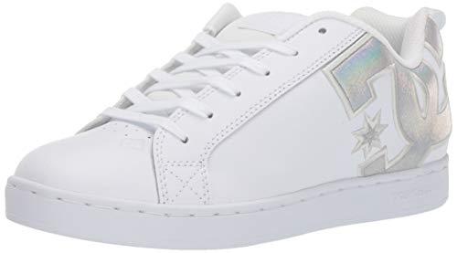 DC womens Court Graffik Skate Shoe, White/Splatter, 9.5 US