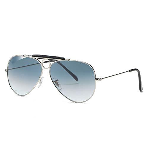 WJJH Gafas de Sol polarizadas de Moda de Vidrio Classic Men's Big Frame Sunglasses Driver Driving Gafas de Sol Saplo Espejo,Y3