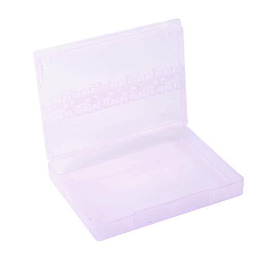 Caja de exhibición de brocas de uñas, caja de almacenamiento de brocas...