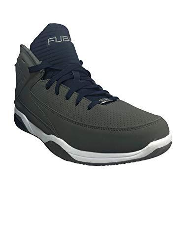 Fubu Herren Kollektion von High Top Sneakers – Tiger & Strap 2, Grau (grau), 38.5 EU
