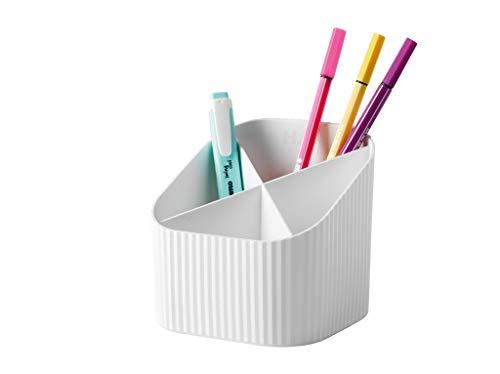 HAN Pokrowiec na biurko Re-X-LOOP – say yes to 100% recyklingowany, nowoczesny, młodzieżowy design na wszystkie przybory biurkowe, biały, 17238-912