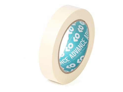 Advance Tapes AT6300 Paper Masking Tape 60°C, Cream, 18mm x 50M x 76mm Core Core, Single Roll