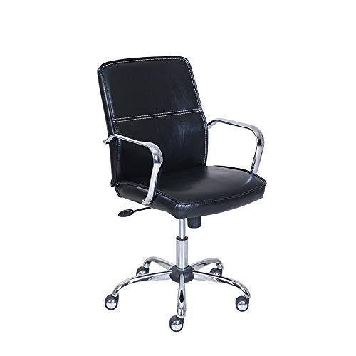 CHICAI Silla de Oficina en casa Silla multifunción Elevación Rotary butaca abatible Fijo Apoyabrazos Que soportan el Peso de 250 Kilos sillas de Escritorio Negros