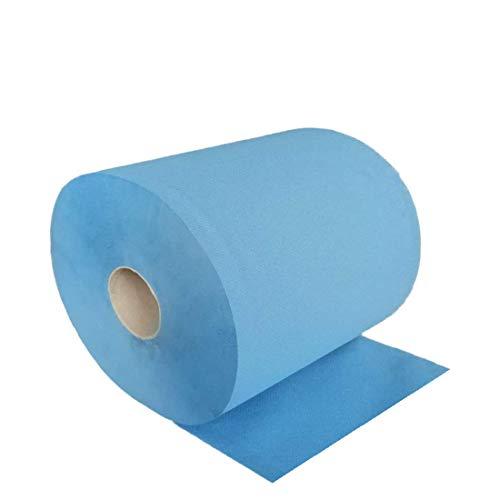 FEBLUE XXL | Putzrolle blau 3-lagig [2 Rollen = 1.000 Blatt] 500 Blatt/Rolle | 38x35cm | hochwertige und sehr saugfähige Putztuchrolle