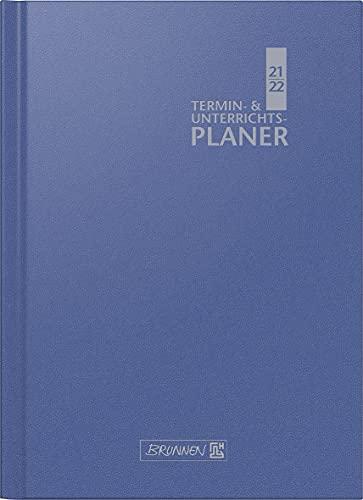 BRUNNEN 1075760302 Lehrerkalender/Termin- & Unterrichtsplaner ( Wochenkalender) 2021/2022, 2 Seiten = 1 Woche, Überformat A4: 23 x 29,7 cm, Baladek-Einband blau
