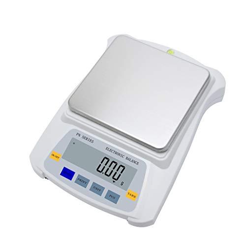 LYC Elektronische weegschaal, zeer nauwkeurige laboratoriumweegschaal, 0,1 g, sieradenweegschaal, geschikt voor laboratoria, keukens, juweliers