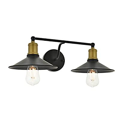 TODOLUZ Industrial Wall Light Matte Black Finish Edison Vintage Style Sconce Wall Lamp Fixture for Vanity Bathroom Kitchen Study Room