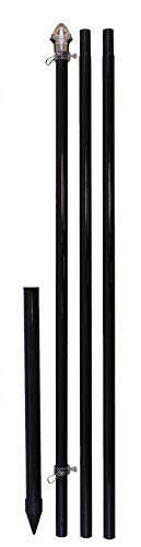 Flags Importer Black 10ft w/Ground Spike Outdoor...