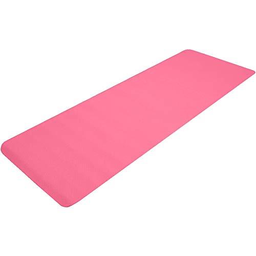 XYQS Esterilla de yoga de 6 mm de grosor TPE con correa de transporte, esterilla de fitness, unisex, esterilla de ejercicio, antideslizante, para entrenamiento, yoga, pilates (rosa) (color: rosa)