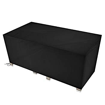 Patio Furniture Covers Outdoor Waterproof Furniture Cover Patio Set Cover Outdoor Table and Chair Cover Black 106.3 x 70.8 x 35 Inches