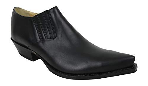 Sendra 4133 Stiefellette Boots Cowboystiefel Westernstiefel Schwarz Unisex Inclusive Roy Dunn´s Lederfett und Sendra Tragetasche (43)