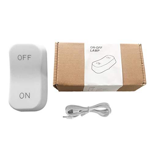 Swiftswan - Lámpara de mesa con sensor de gravedad creativa LED de noche, interruptor de encendido/apagado, recargable, compatible con la noche de bebé regulable