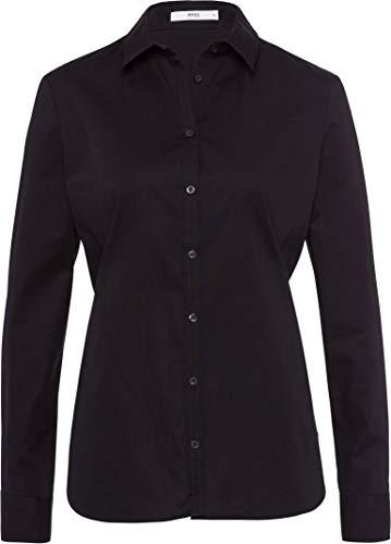BRAX Damen Style Victoria Hemdkragen Klassisch Bluse, Black, (Herstellergröße: 44)