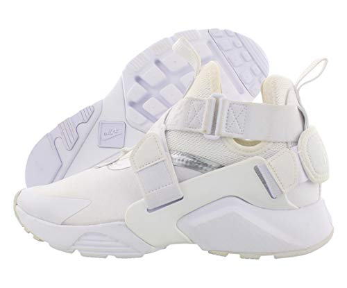 Nike Huarache City Boys Shoes Size 7, Color: White/White/Metallic Silver