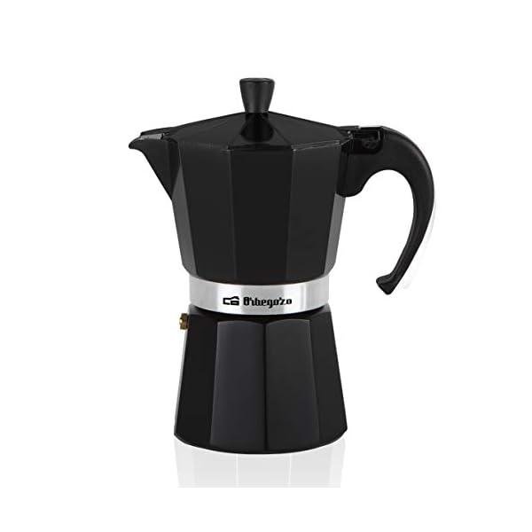 Orbegozo KFN310 KFN 310-Cafetera, 3 Tazas, Color, Aluminio, Negro