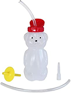 ARK's Bear Bottle Kit to Teach Straw Drinking - Includes Unique Valve & Mouthpiece