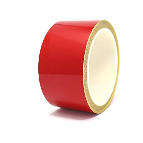 10 Meter (1,79€/Meter) Zierstreifen Auto Motorrad Boot Modellbau Farbauswahl - Finest Folia Dekorstreifen Seitenstreifen Klebestreifen (Reflektierend Rot, 50mm Breite)