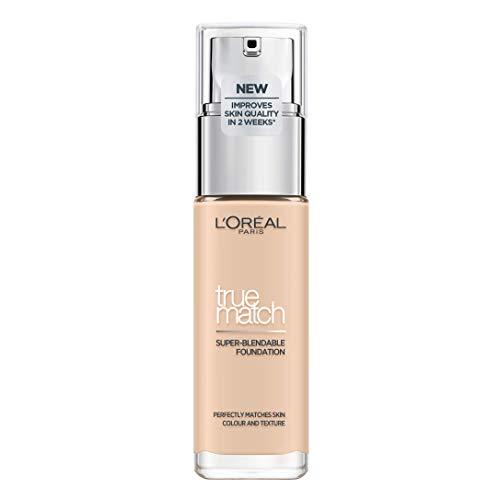 L'Oréal Paris Perfect Match Make-up 0.5.N Porcelain, flüssiges Make-up, hautton-anpassend, pflegt die Haut mit Hyaluron und Aloe Vera