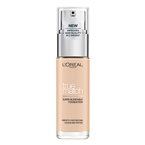L'Oréal Paris True Match Foundation 0.5N Porcelain - L'Oréal Foundation met Hyaluronzuur & Natuurlijke Dekking, met SPF 17-30 ml (Perfect Match), 0.5N Porcelain