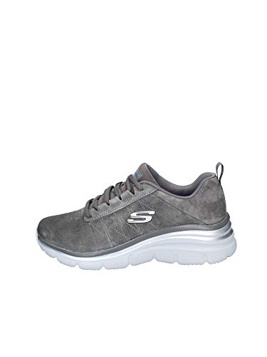 Skechers 40 Nuovo Memory Foam Sneakers Donna Soft Love 40, Charcoal… (Numeric_38)