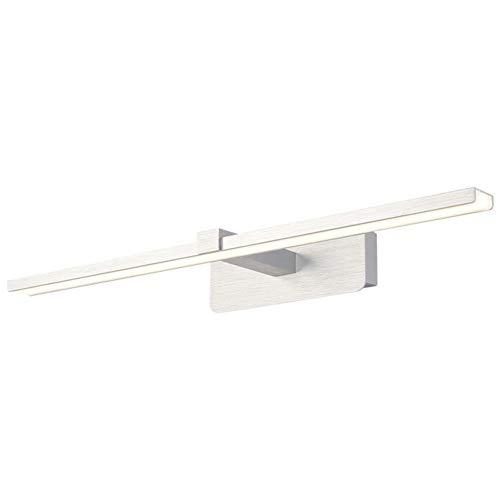 SXFYWYL badkamerspiegel, led-wandlamp, waterdicht, geborsteld aluminium