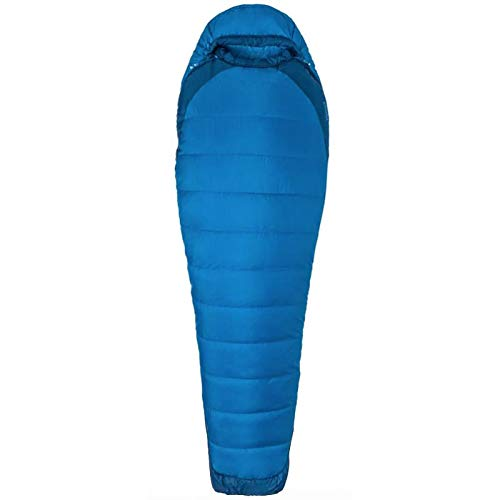 Marmot Trestles Elite Eco 15 Long Sac de Couchage Mixte Adulte, Clear Blue/Classic Blue, FR Unique (Taille Fabricant : 198 cm)