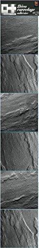 PLAGE Smooth - Tiles tegels sticker leisteen [6 vellen 15 x 15 cm], vinyl, grijs, 15 x 0,1 x 15 cm