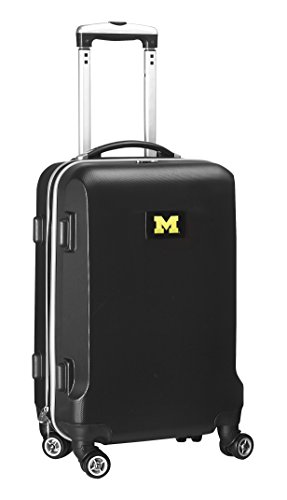 NCAA Michigan Wolverines Carry-On Hardcase Luggage Spinner, Black