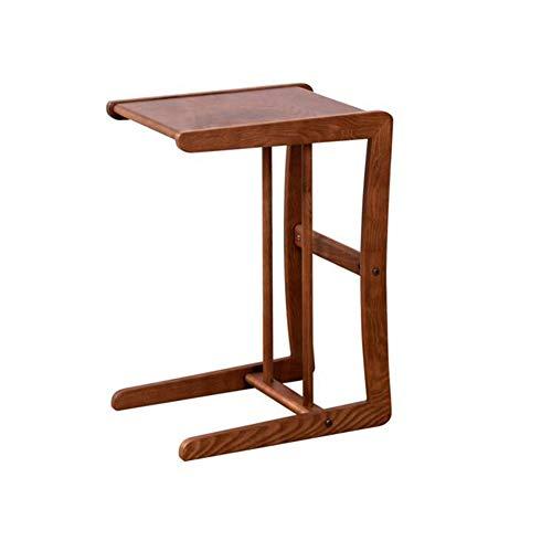 XUERUI tafel, sofa, tv-tafel, tablet, laptop, bureau, uittrekbaar, zijkant voor bed, koffie, eten, kastanjekleuren
